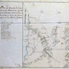 Plano que demuestra la Costa de la nueva Poblacion de Aguilas