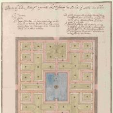 Planta para el jardín del palacio de los Silva en Belem