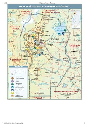 Mapa turístico de Córdoba. Mapoteca de Educ.ar