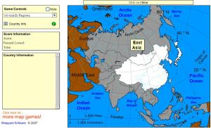 Countries of Asia. Beginner. Sheppard Software