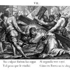 Segunda caída de Cristo, camino del Calvario