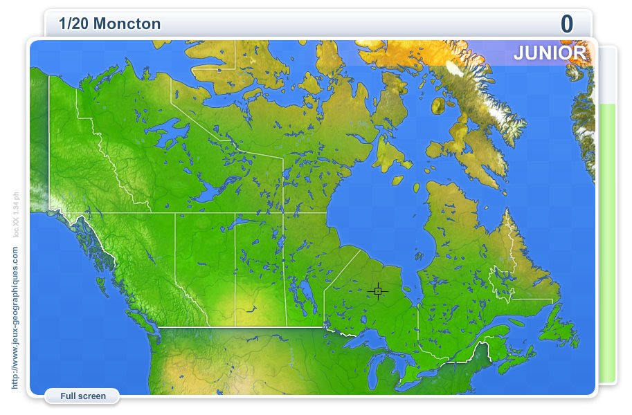 Cities of Canada Junior . Geography map games