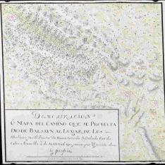 Mapa del Camino desde Balsayn al lugar de los Molinos por el Puerto de Navaserrada