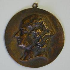 Medallón con el retrato de Pierre Jean de Beranger