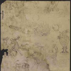 Estudios de figuras, motivos decorativos y arquitectonicos