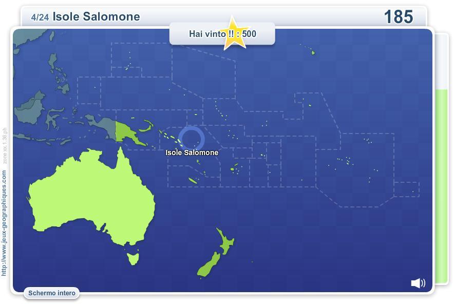 GeoQuizz Oceania. Giochi geografici
