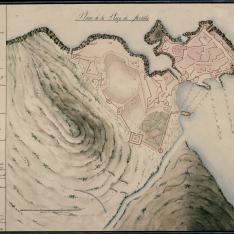 Plano de la Plaza de Melilla
