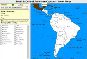 Capitals of South and Central America. Expert. Sheppard Software