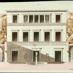 Fachada interior de una villa italiana