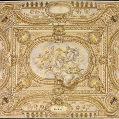 Decoración para el techo de una capilla u oratorio
