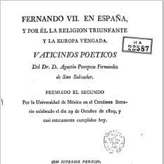 Fernando VII en España y por él la religion triunfante y la Europa vengada