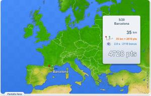 Ciudades de Europa. Juegos Geográficos