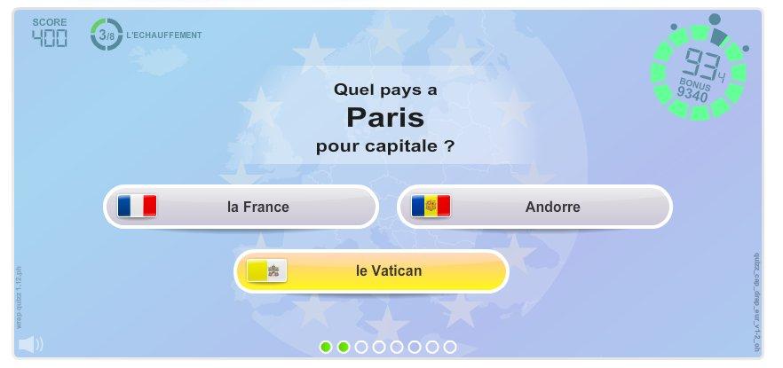Capitales et Drapeaux d'Europe. Jeux géographiques