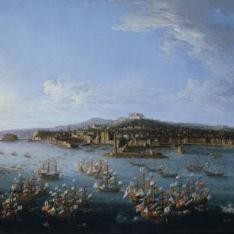 Partida de Carlos de Borbón a España, vista desde el mar