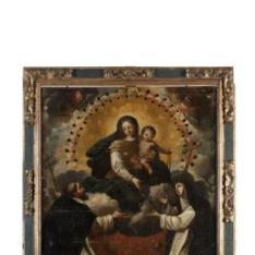 Virgen del Rosario con Santo Domingo y Santa Catalina de Siena
