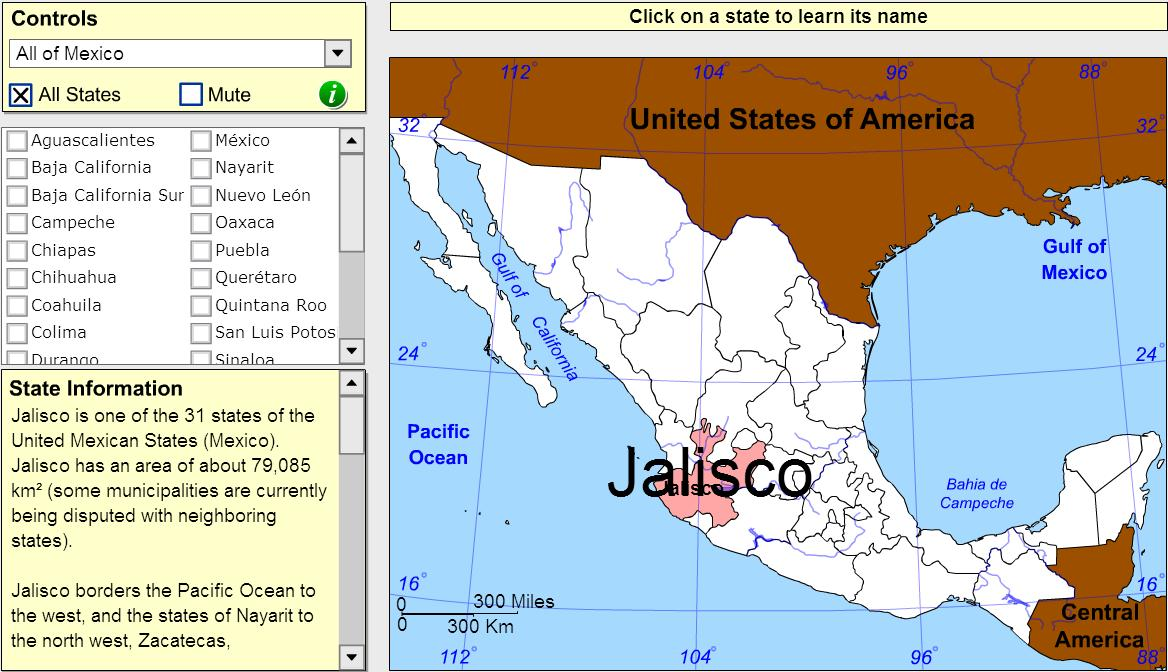 States of Mexico. Tutorial. Sheppard Software
