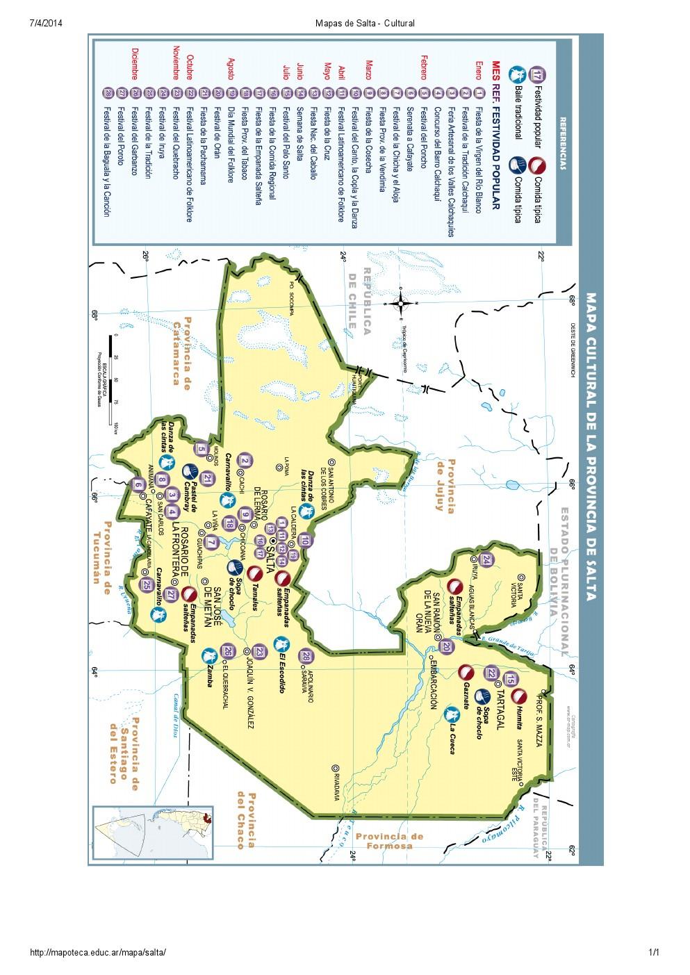 Mapa cultural de Salta. Mapoteca de Educ.ar