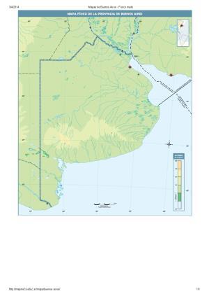 Mapa mudo de ríos y montañas de Buenos Aires. Mapoteca de Educ.ar