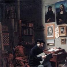Autorretrato en su estudio