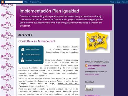 Implementación Plan Igualdad