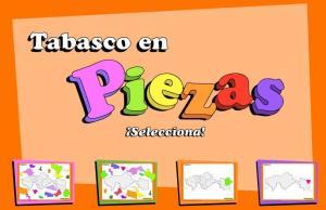 Municipios de Tabasco. Puzzle. INEGI de México