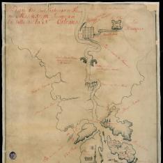 Plan des Embouchures et Fleuve du Mississipi Jusques á la Ville de la Nelle. Orleans