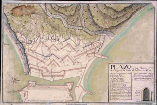 Plano de las Minas y Frente del Campo de los Moros de la Plaza de Zeuta