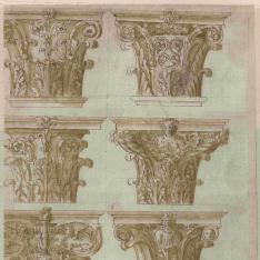 Capiteles corintios y compuestos fantásticos