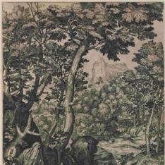 San Onofre penitente, en un gran paisaje
