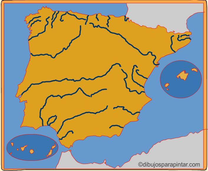 Mapa Interactivo Rios España.Mapa Interactivo De Espana Rios De Espana Dibujos Para