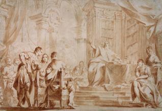 Ulisse Aldrovandi en su cátedra