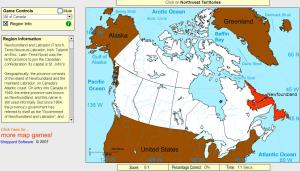 Provinces of Canada. Beginner. Sheppard Software