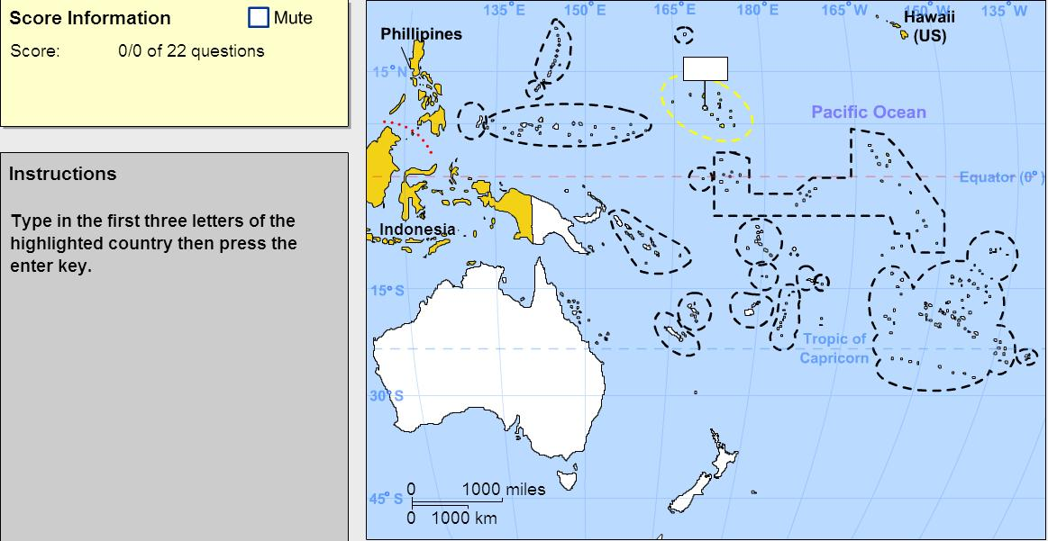Interactive map of Oceania Countries of Oceania. Expert. Sheppard ...