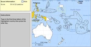 Countries of Oceania. Expert. Sheppard Software