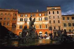 Vida de barrio en la Piazza Navona
