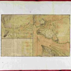 Plano de la fortaleza de Sn. Phelipe en la Ysla de Menorca