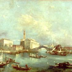 Vista imaginaria de la laguna con isla y puente / Vista veneciana