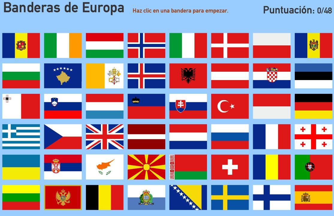 Banderas de Europa. Toporopa