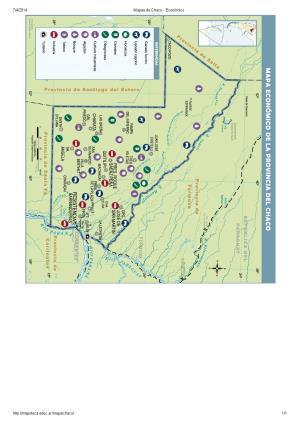 Mapa económico del Chaco. Mapoteca de Educ.ar