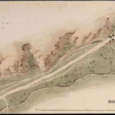 Plano geográfico de la conducción de aguas a la mina que va a la Casa del Labrador