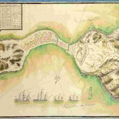 Plano de la Plaza de Zeuta, Almina y Campo de los Moros