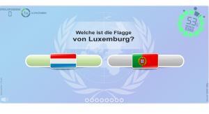 Flaggen der Welt. Geographie Spiele