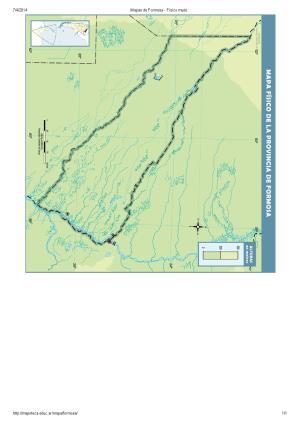 Mapa mudo de ríos de Formosa. Mapoteca de Educ.ar