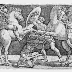 Combate a caballo y a pie