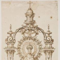 La Virgen del Sagrario en su trono