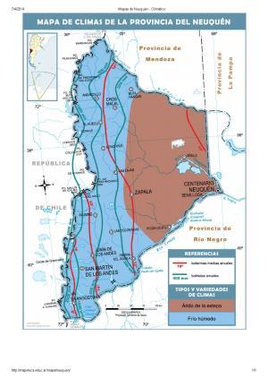 Mapa climático de Neuquén. Mapoteca de Educ.ar