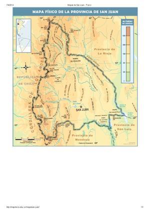Mapa de ríos de San Juan. Mapoteca de Educ.ar