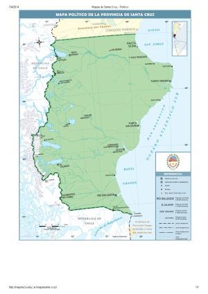 Mapa de capitales de Santa Cruz. Mapoteca de Educ.ar
