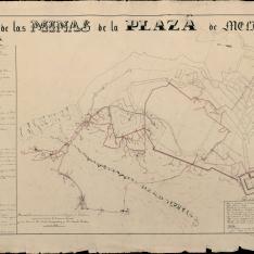 Plano de las minas de la Plaza de Melilla