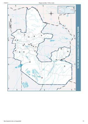 Mapa mudo de capitales de Salta. Mapoteca de Educ.ar